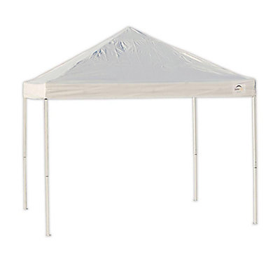 White Straight Leg Pop Up Canopy
