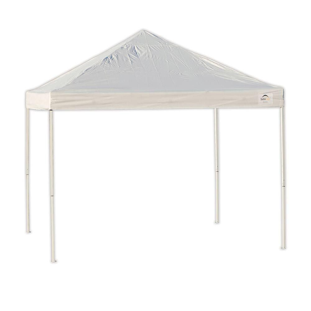 ShelterLogic Pro 10 ft. x 10 ft. White Straight Leg Pop-Up Canopy