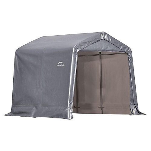 Shed-in-a-Box 8 ft. x 8 ft. x 8 ft. Peak Style Grey Storage Shed