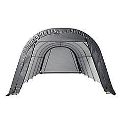 RoundTop 12 ft. W x 24 ft. L x 10 ft. H Grey Garage