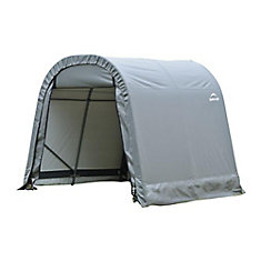 RoundTop 10 ft. x 16 ft. x 8 ft. Shed Storage Shelter in Grey