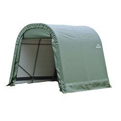 ShelterLogic 11 ft. x 12 ft. x 10 ft. Round Style Shelter with Green Cover