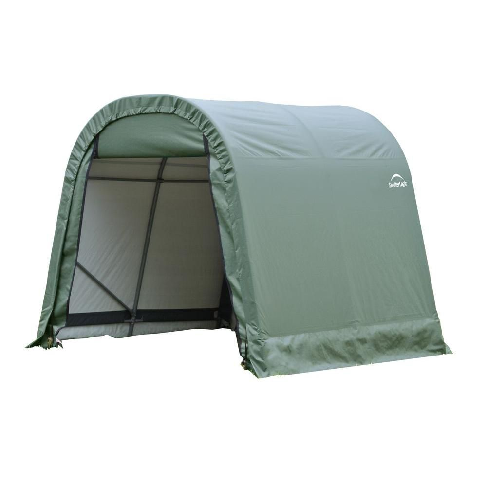 Green Cover Round Style Shelter - 11 Feet x 16 Feet x 10 Feet 77829 Canada Discount