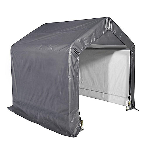 Shed-In-A-Box 6 ft. x 6 ft. x 6 ft. Grey Peak Style Storage Shed