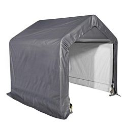 ShelterLogic Shed-In-A-Box 6 ft. x 6 ft. x 6 ft. Grey Peak Style Storage Shed