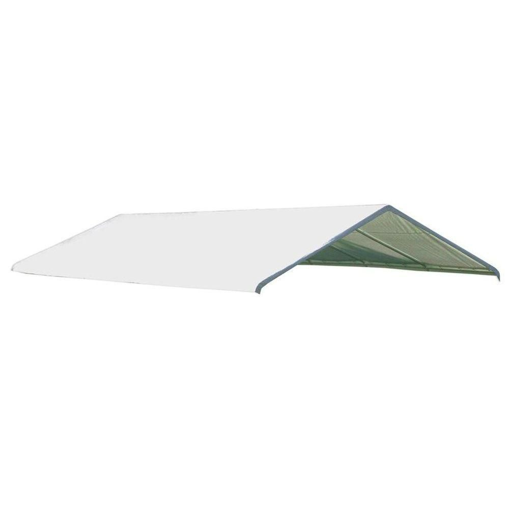 Super Max 18 x 30 Premium Canopy Replacement Cover, Fits 2 Inch Frame, White 10169 Canada Discount