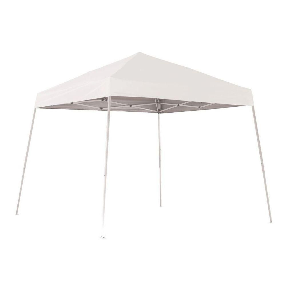 Sport 10 x 10 White Slant Leg Pop-Up Canopy