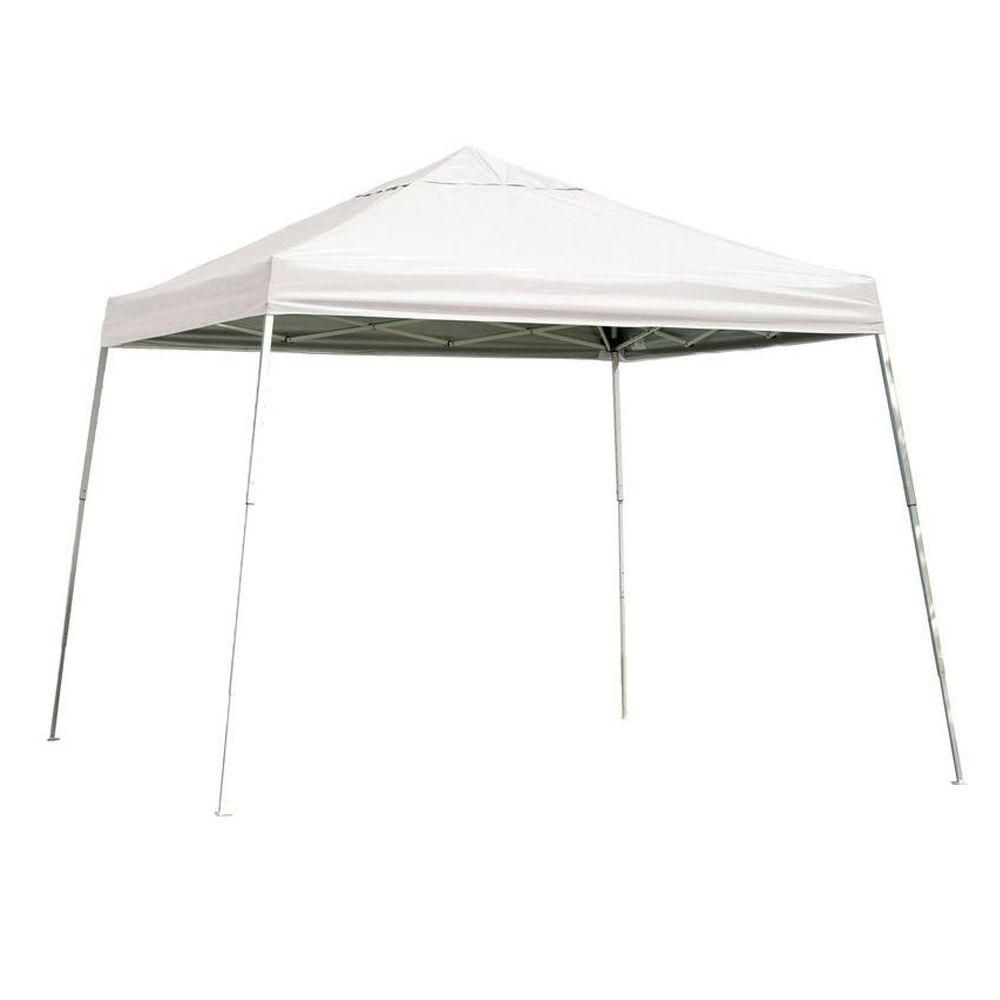 ShelterLogic Sport 12 ft. x 12 ft. White Slant Leg Pop-Up Canopy