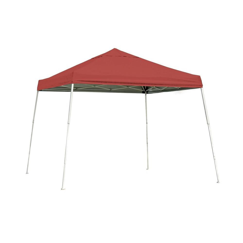 Sport Pop-Up Canopy, 12 x 12, Slant Leg, Red Cover with Storage Bag 22545 Canada Discount