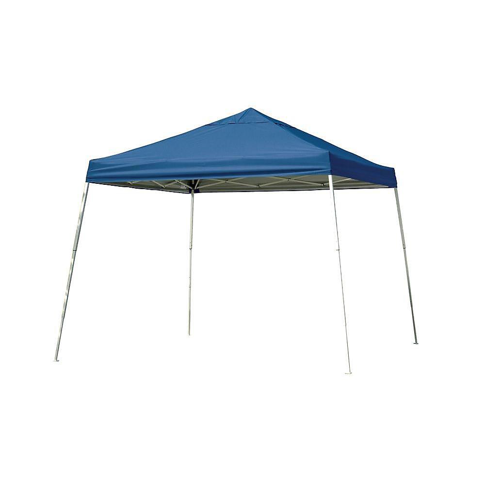 Sport 12 ft  x 12 ft  Pop-Up Canopy Slant Leg, Blue Cover with Storage Bag