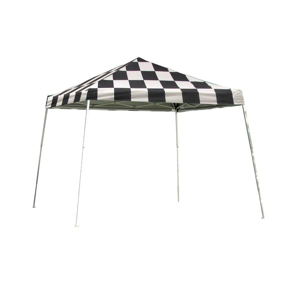 Sport Pop-Up Canopy, 12 x 12, Slant Leg, Checkered Flag Cover with Storage Bag 22549 Canada Discount