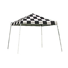Sport 12 ft. x 12 ft. Pop-Up Canopy Slant Leg, Checkered Flag Cover with Storage Bag