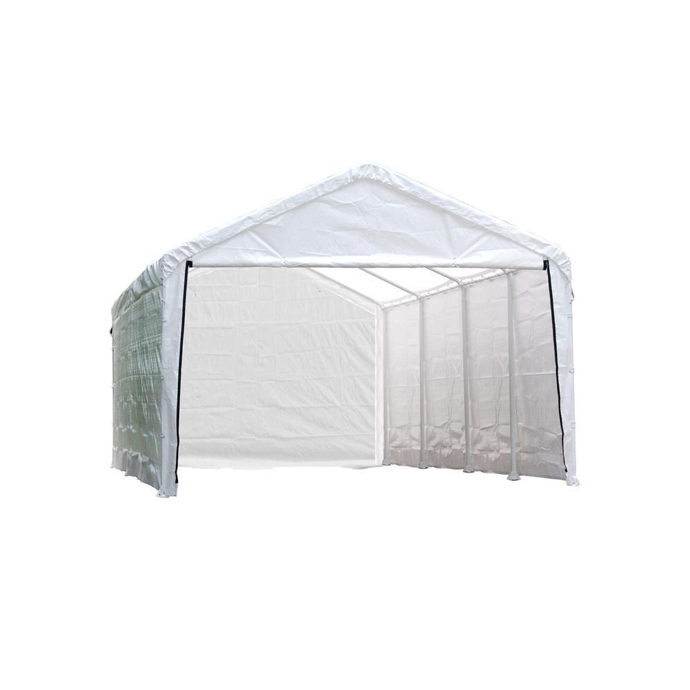 ShelterLogic 12 ft. x 30 ft. Sidewalls and Doors Kit for Super Max AP White Canopy
