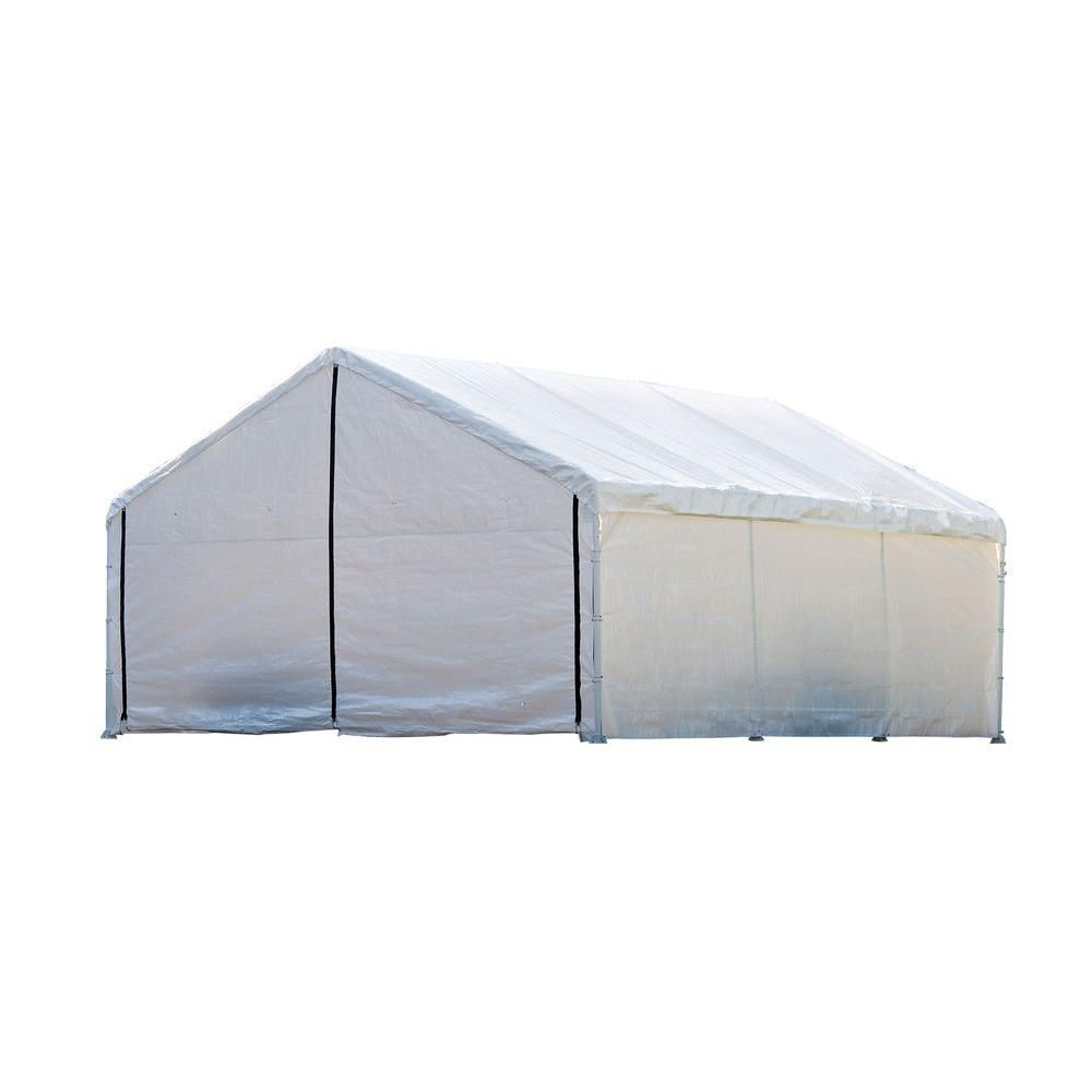 Super Max 18 x 20 White Canopy Enclosure Kit, Fits 2 Inch Frame