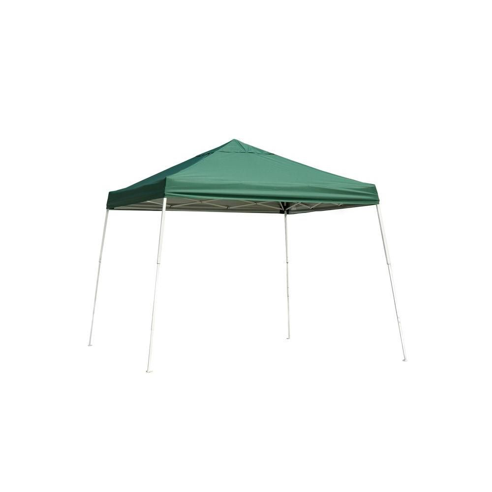 12 x 12 Sport Slant Leg Popup Canopy, Green Cover