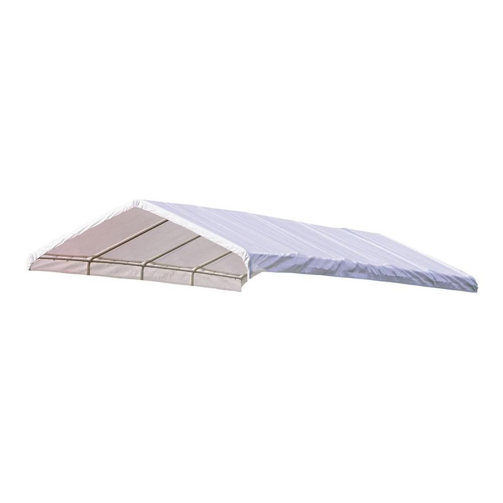 Super Max 12 x 30 White Premium Canopy Replacement Cover, Fits 2 Inch Frame