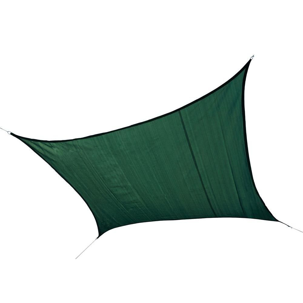 Square Sun Shade Evergreen Sail - 16 Feet