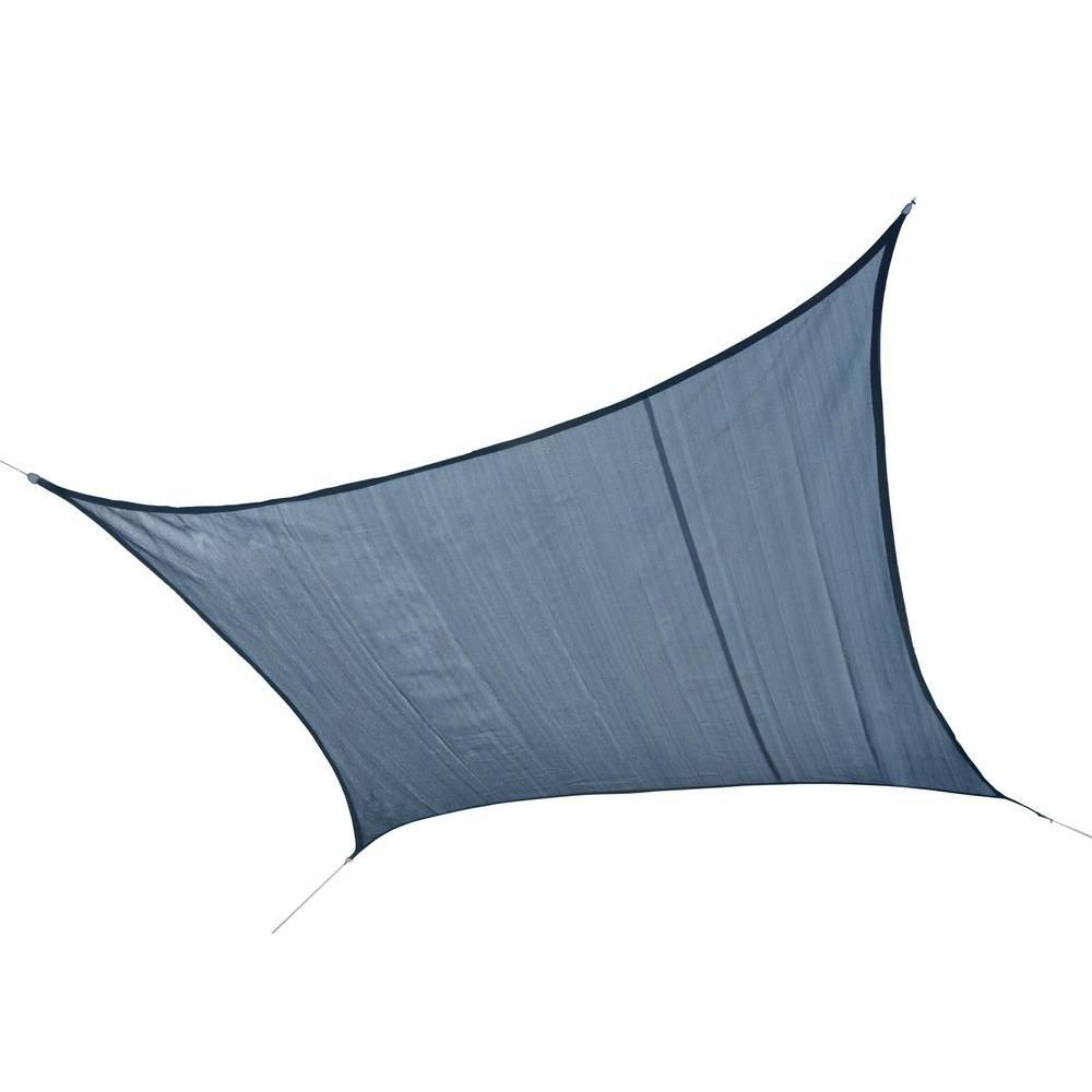 Square Sun Shade Sea Blue Sail - 16 Feet