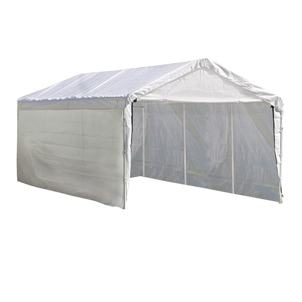 Super Max 10 x 20 White Canopy Enclosure Kit Fits 2 Inch Frame