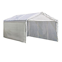 Super Max 10 ft. x 20 ft. White Canopy Enclosure Kit