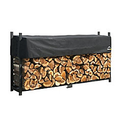 8 ft. Ultra Duty Firewood Rack in a Box with Cover