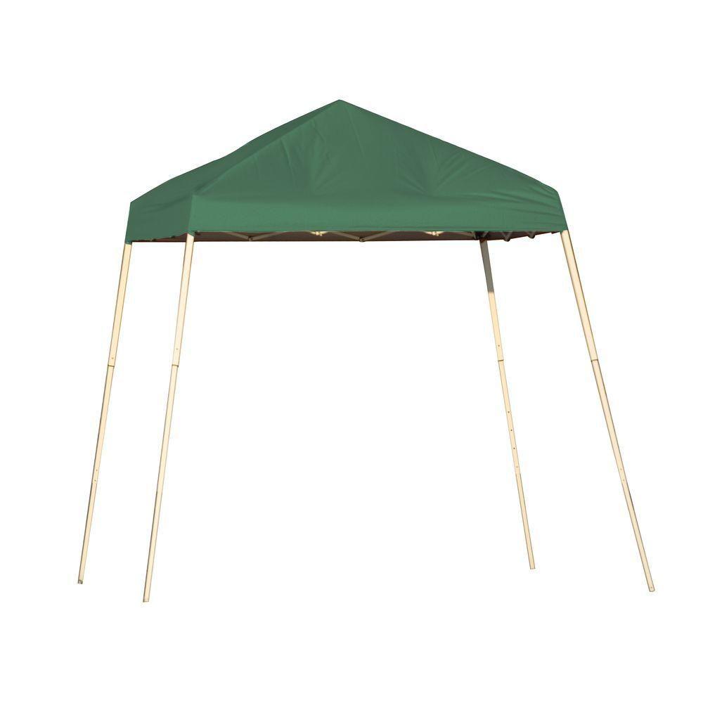 Sport 8 x 8 Green Slant Leg Pop-Up Canopy