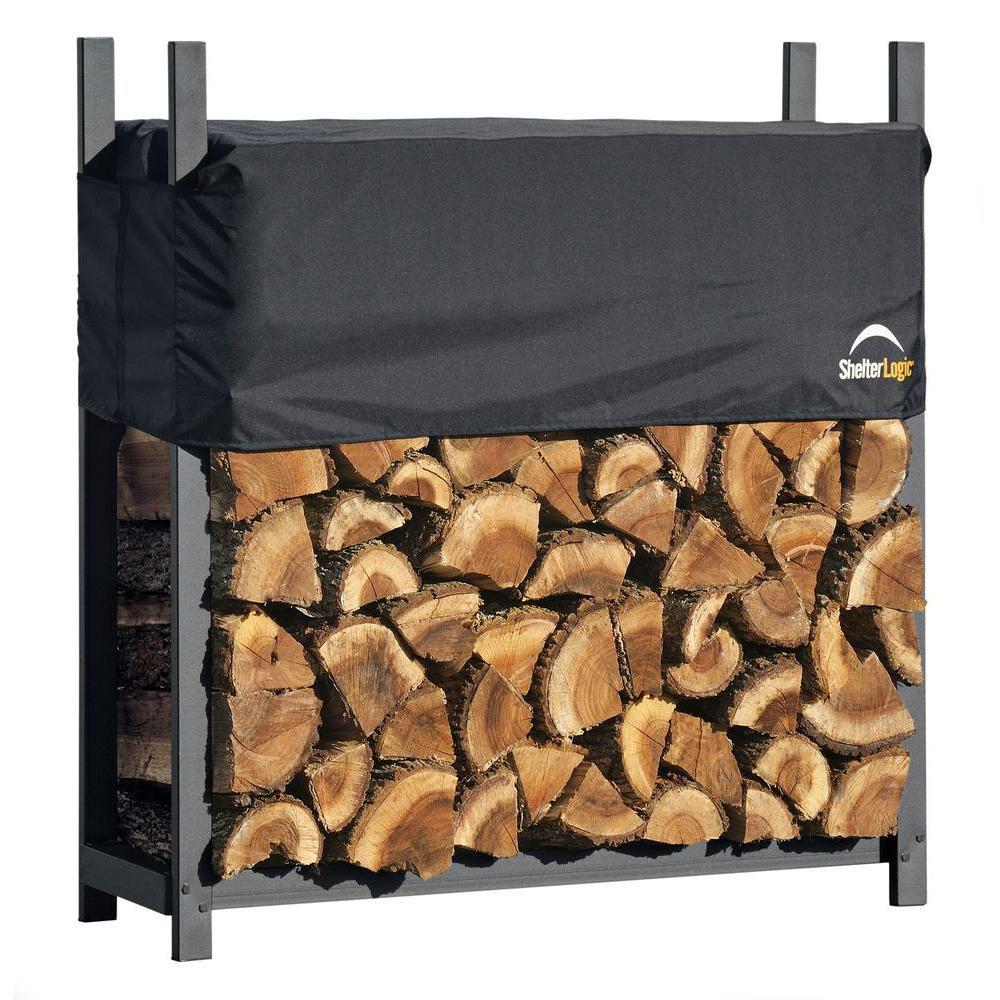 Firewood Rack-in-a-Box de service très intensif avec housse, 4 pi
