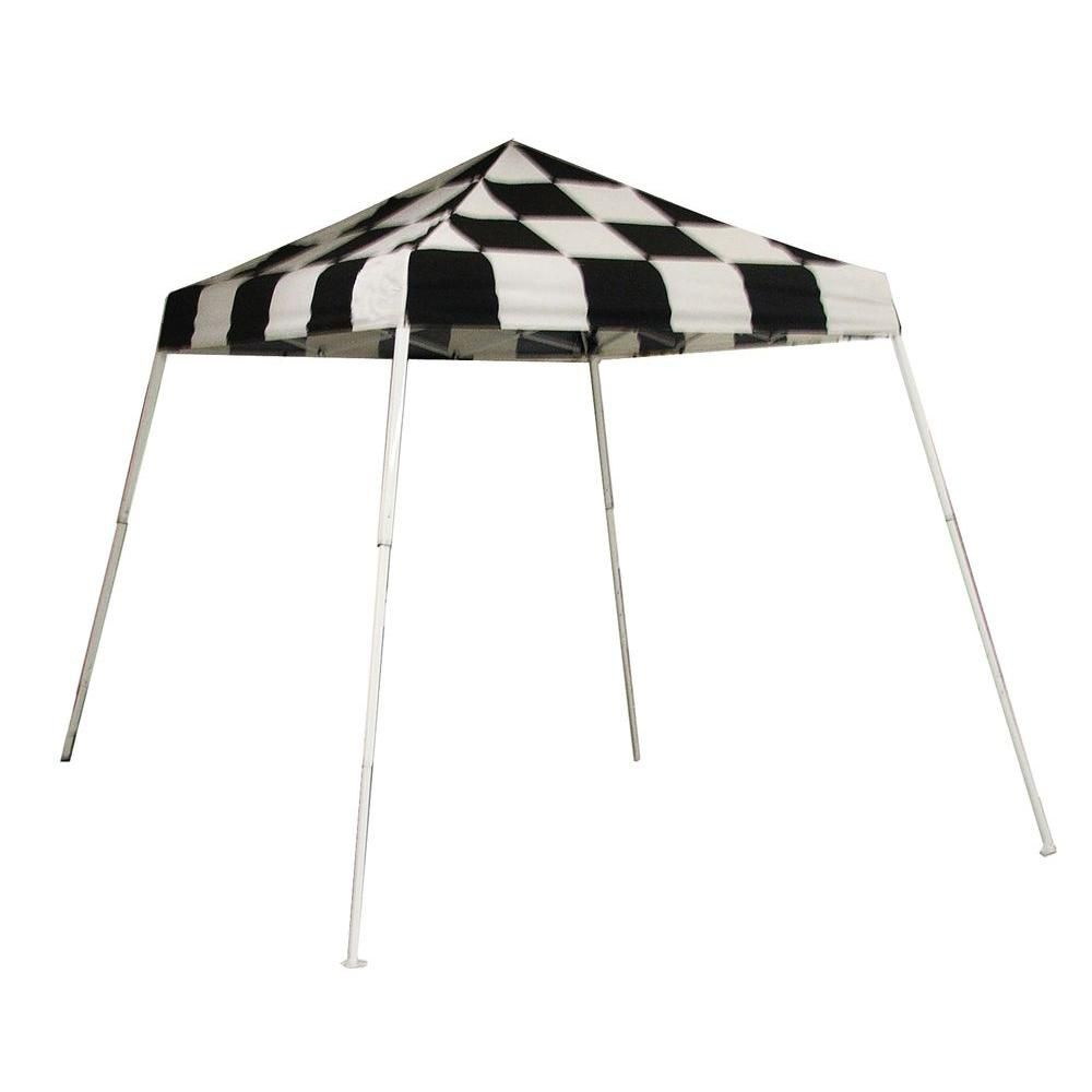 Sport Pop-Up Canopy, 8 x 8, Slant Leg, Checkered Flag Cover with Storage Bag 22579 in Canada