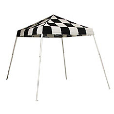 Sport 8 ft. x 8 ft. Pop-Up Canopy Slant Leg, Checkered Flag Cover with Storage Bag