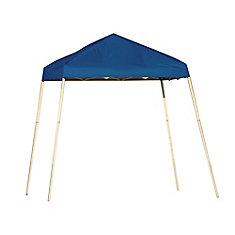 Sport 8 ft. x 8 ft. Pop-Up Canopy Slant Leg, Blue Cover with Storage Bag