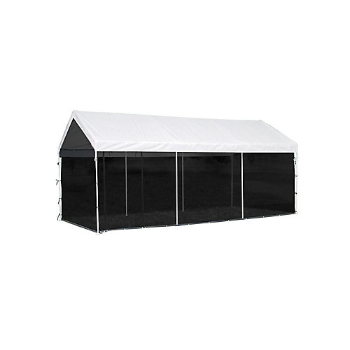 Max AP 10 ft. x 20 ft. Screen House Enclosure Kit with Woven Screen in Black