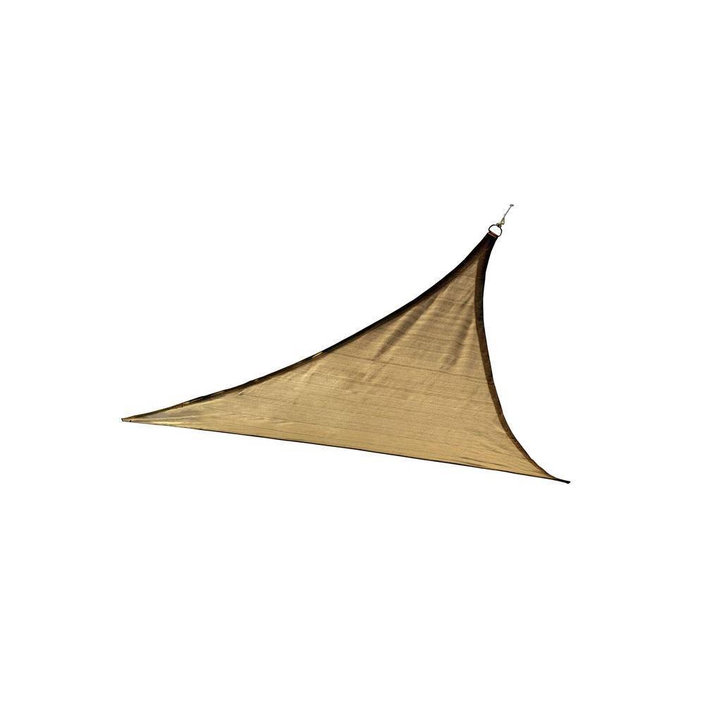 Triangle Sun Shade Sail, Sand - 16 Feet