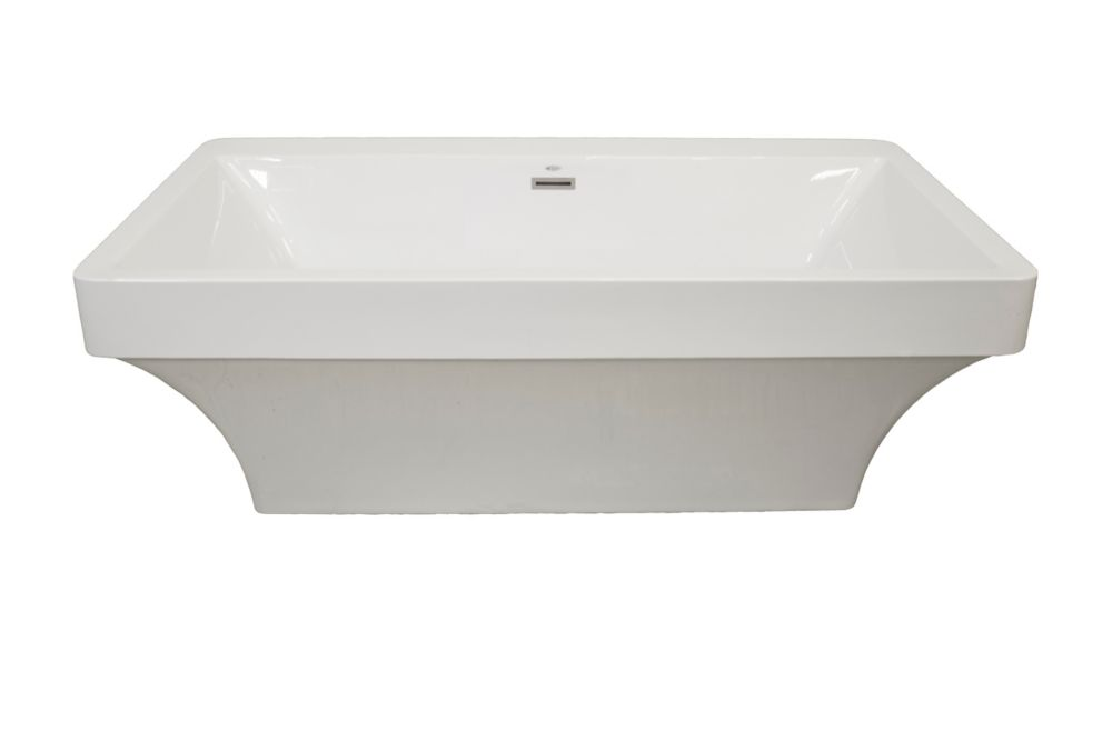 Beacon 2-Piece Acrylic Freestanding Bathtub