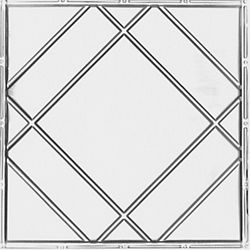 Shanko 2 Feet x 4 Feet Lacquer Steel Finish   Nail-Up Ceiling Tile Design Repeat Every 24 Inches