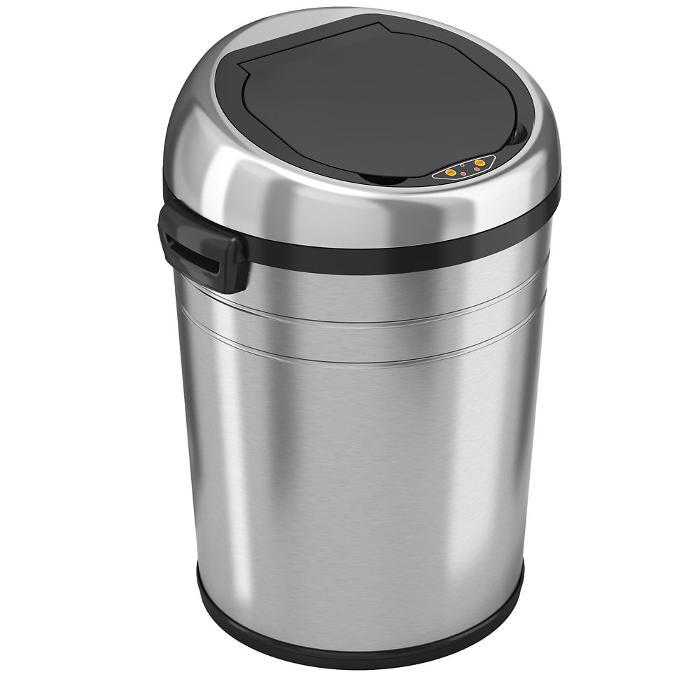 18 Gallon Large Commercial Size Stainless Steel Automatic Sensor Touchless Trash Can
