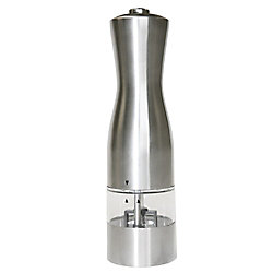 iTouchless EZ Hold Electronic Stainless Steel Salt or Pepper Mill/Grinder