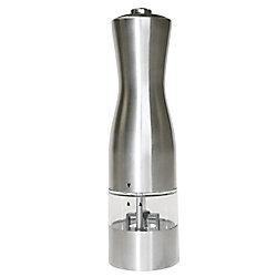 iTouchless Moulin/Broyeur électronique EZ Hold en acier inoxydable pour sel ou poivre