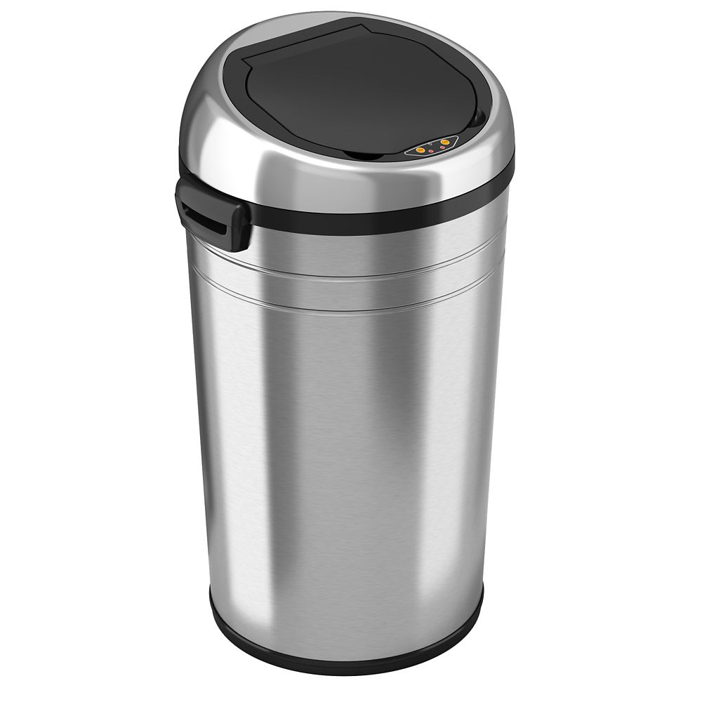 iTouchless 87L Large Commercial Trash Can in Stainless Steel with Automatic Touch-Free Sensor