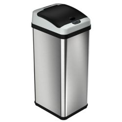 iTouchless 13 Gallon Rectangular Extra-Wide Stainless Steel Automatic Sensor Touchless Trash Can