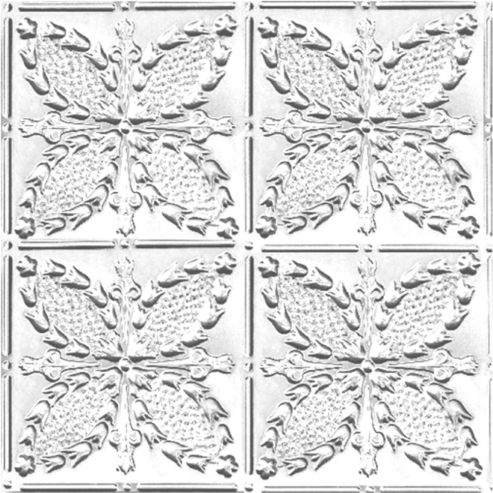 2 Feet x 4 Feet Chrome Plated Steel Finish Nail-Up Ceiling Tile Design Repeat Every 12 Inches CH335 4 Canada Discount