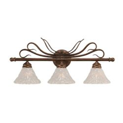 Filament Design Concord 3-Light Wall Bronze Bath Vanities with a Clear Crystal Glass