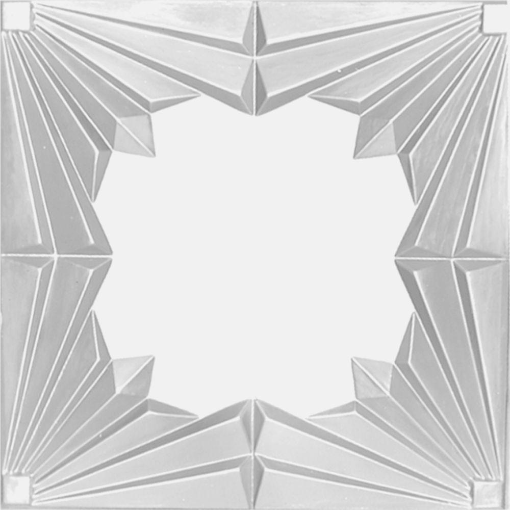 Carreau de plafond en acier blanchi à motif répété aux 24 pouces et installation encastrée 2pi x...