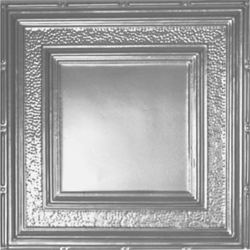 2 Feet x 2 Feet Lacquer Steel Finish Lay-In Ceiling Tile  Design Repeat Every 24 Inches