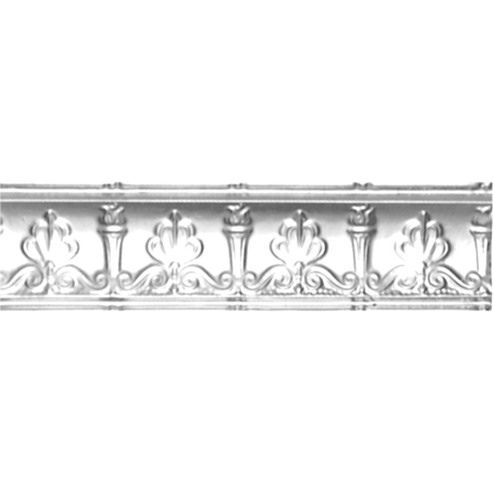 Chrome Plated Steel Cornice 4  Inches  Projection x 4  Inches  Deep x 4 Feet Long