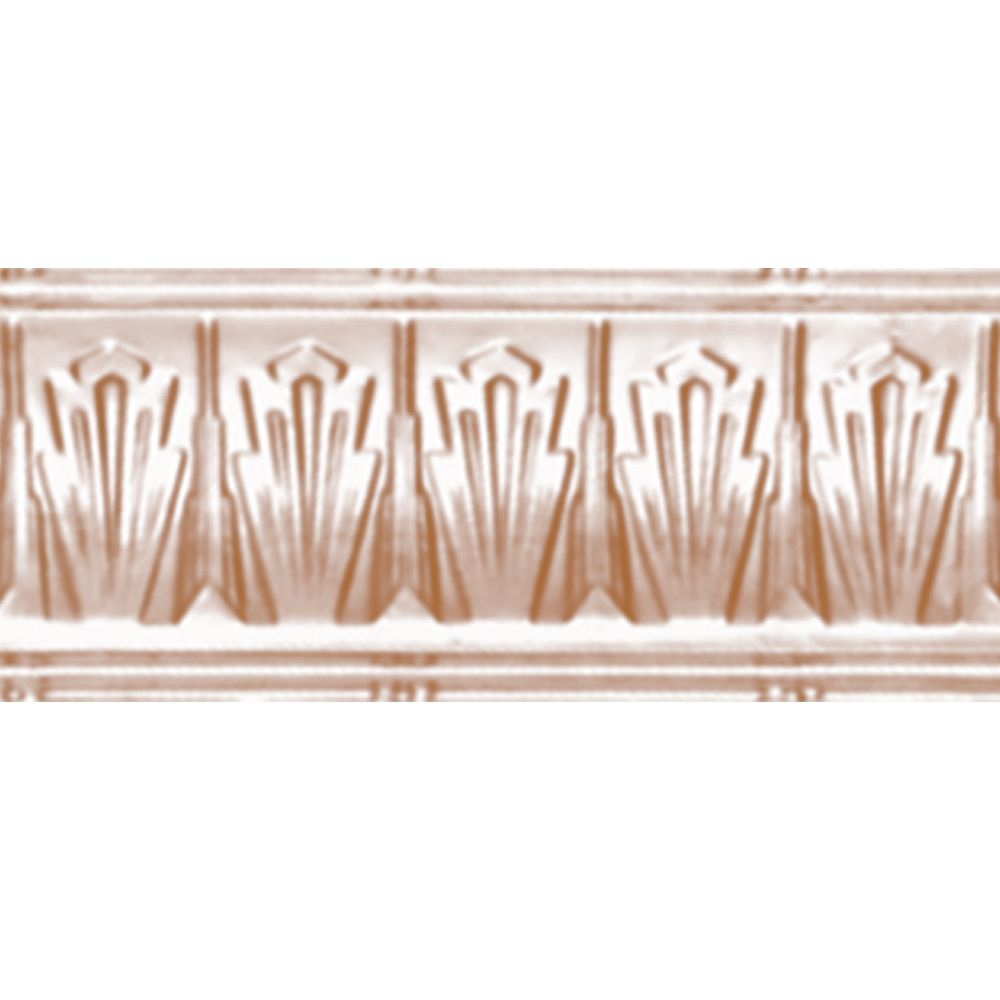 Copper Plated Steel Cornice 4  Inches  Projection x 4  Inches  Deep x 4 Feet Long