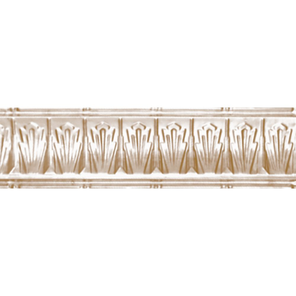 Brass Plated Steel Cornice 2.5  Inches  Projection x 2.5  Inches  Deep x 4 Feet Long