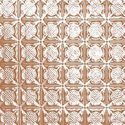 Shanko Carreau de plafond en acier plaqué cuivre à motif répété aux 3 pouces et installation clouée 2pi x 4pi