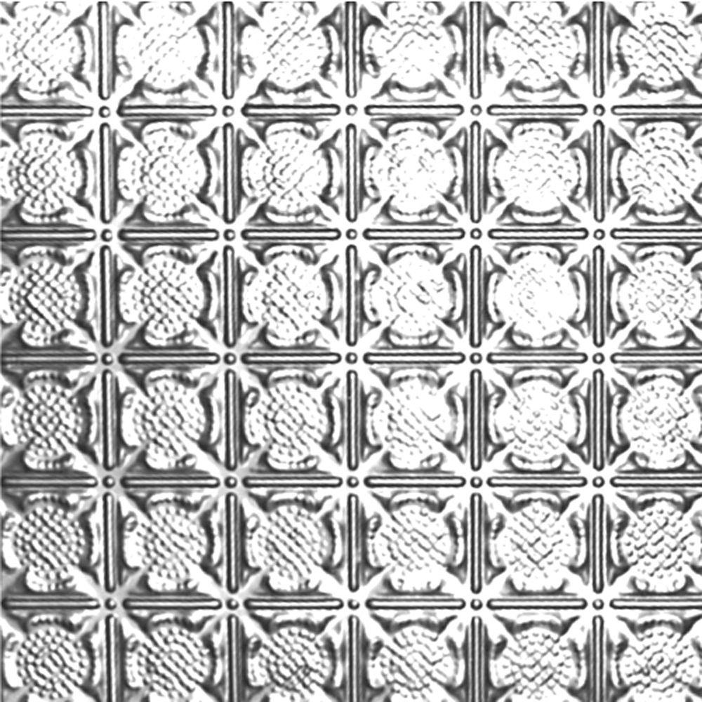 Carreau de plafond en acier plaqué chrome à motif répété aux 3 pouces et installation clouée 2pi...