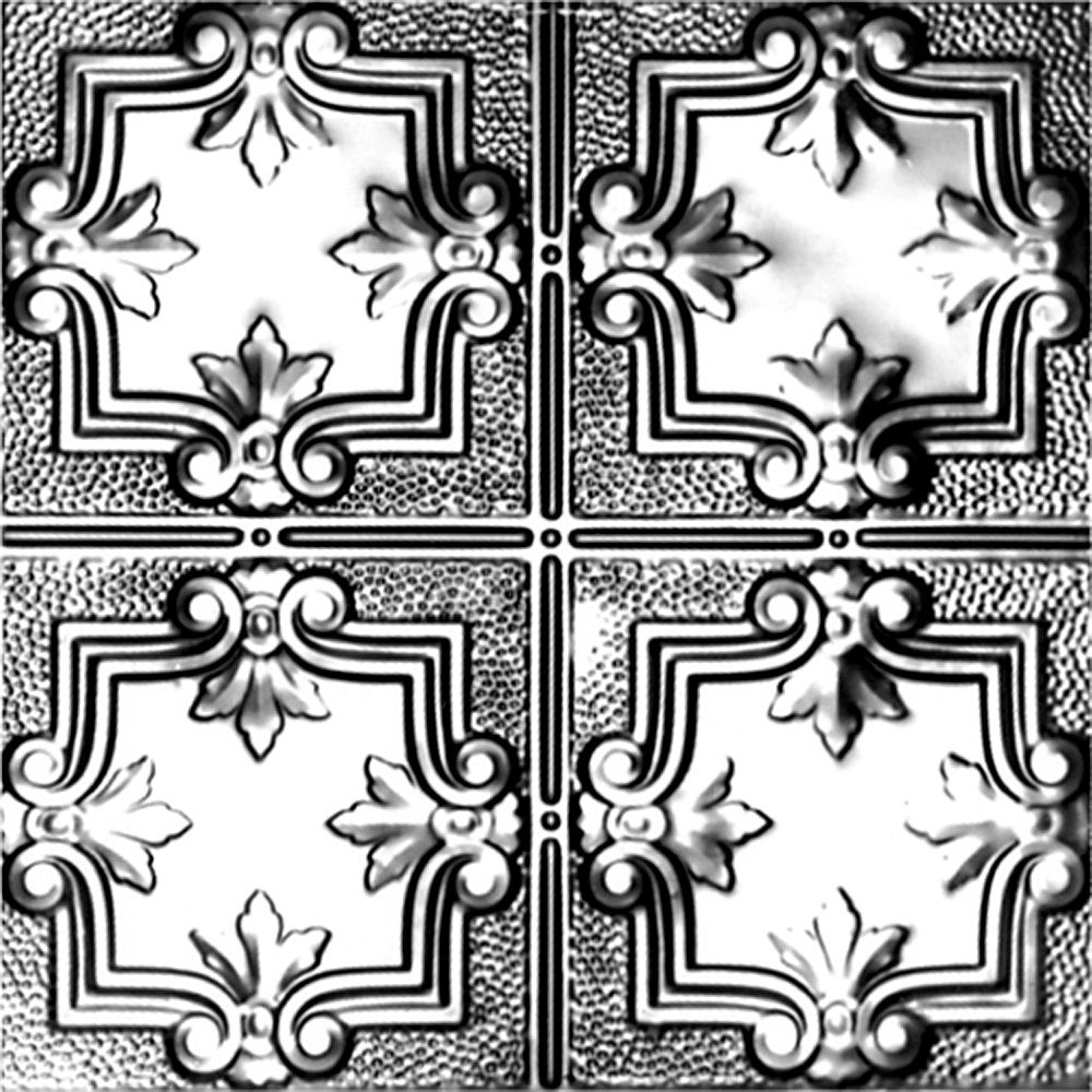 2Feet X 2Feet Steel Silver Lay-In Ceiling Tile Design Repeat Every 12 Inches ST321 2 in Canada