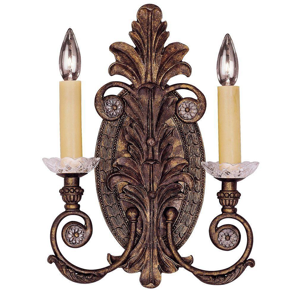 Satin 2 Light Bronze Incandescent Wall Sconce
